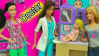 Download A Day with Pediatrician Doctor + Nurse Barbie Doll Medical Center Playsets Video