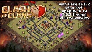 Download WAR BASE TH 9 9,5 ANTI 2 STAR+REPLAY Video