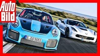 Download Porsche 911 GT2 RS vs. Corvette Z06 (2018) Das 1359-PS-Duell Video