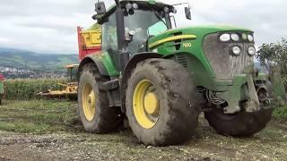 Download Ensilage de maïs 2012: chantier n°3 (John-Deere in difficult) Video