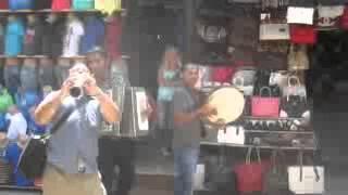 Download Pec (Peja) in Kosovo , street musicians playing in carsija , July 2014 Video