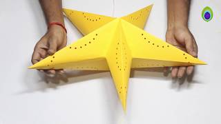 Download DIY How to make Star Lantern Kandil For Diwali & Christmas Decoration Video