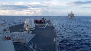 Download US destroyer in South China Sea Video