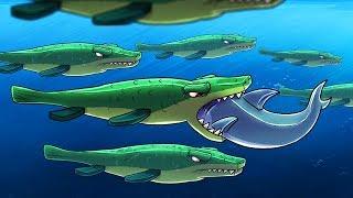 Download Minecraft | HERD OF GIANT MOSASAURUS - Underwater Dinosaurs! (Morph Hide and Seek) Video