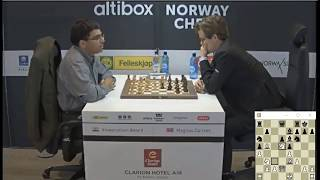 Download SACRIFICE ROOK FOR BISHOP AND PAWN!!! Viswanathan Anand Vs Magnus Carlsen - Blitz Chess 2017 Norway Video