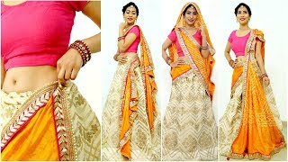 Download 5 Dupatta Draping Styles You MUST Try - How To Wear Lehenga Perfectly this Wedding Season   Anaysa Video