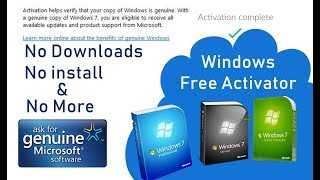 Download How to activate any Windows PC for free [ Windows license key activation trick ] Video