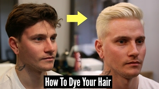 Download How To Dye Your Hair Platinum Blonde - Mens Hair Tutorial 2018 Video