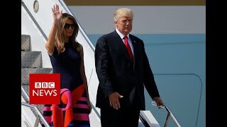 Download G20 SUMMIT: President Trump arrives in Germany- BBC News Video