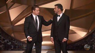 Download Matt Damon Confronts Jimmy Kimmel After Emmys Loss Video