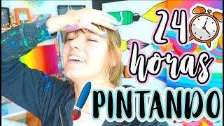 Download 24 HORAS PINTANDO SIN PARAR! 😰🎨 NO SALI DE MI TALLER DE ARTE!!! Video