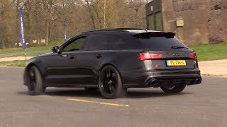 Download Audi RS6 C7 Avant w/ Decatted Downpipes - Drift, Revs, Drag Racing! Video