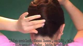 Download 큐윅 헤어번 으로 올림머리 만들기 Video