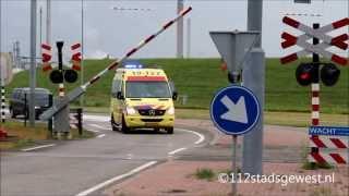 Download Ambulance met spoed moet wachten op goederentrein Video