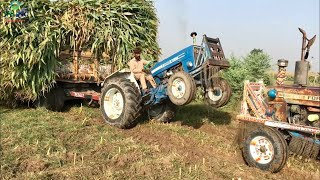 Download Tractor Stunt Ford 4600 Fail to Pulling Maize loaded Trailer Video