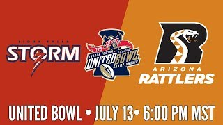 Download 2019 United Bowl | Sioux Falls Storm at Arizona Rattlers (Rattlers Audio) Video
