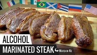 Download ALCOHOL STEAKS Marinated in liquor Experiment - Sous Vide Steak Tested with Joule from ChefSteps Video