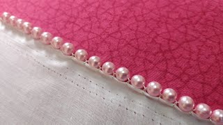 Download Pearl Lace Edge | Bead Border Design (Hand Embroidery Work) Video