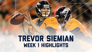 Download Every Trevor Siemian Throw | Panthers vs. Broncos | NFL Week 1 Player Highlights Video