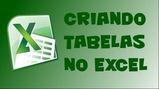 Download Como criar tabelas no Excel Video