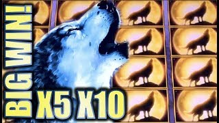 Download ★BIG WOLF WIN!★ TIMBER WOLF & SILVER WOLF 💰Slot Machine Bonus (Aristocrat) Video