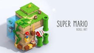 Download Super Mario Bros | Voxel Art Video