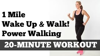 Download 1 Mile Walk Fast | Low Impact Indoor Power Walking Workout ″Wake Up and Walk!″ Video