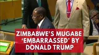 Download Zimbabwe's Mugabe embarrassed by 'biblical giant gold goliath' Donald Trump Video