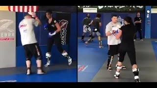 Download Matt Mitrione vs russian girl Katya Kovaleva | Training for Fedor Emelianenko Video