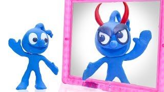 Download CLAY MIXER: DOUBLE TROUBLE IDENTICAL TWINS 💖 Play Doh Cartoons Video