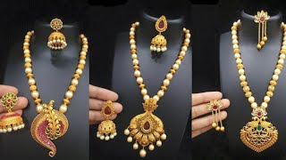 Download Latest party wear pendant set designs ideas/beautiful pendant with Moti chain set designs Video