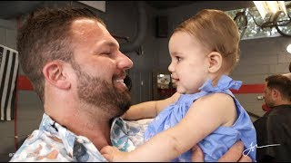 Download Baby has never seen her dad without a beard...till now! Watch what happens! Video