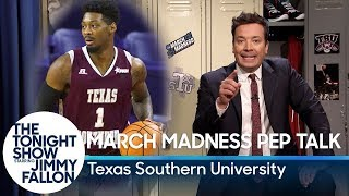Download Jimmy Gives a March Madness Pep Talk to Texas Southern University Video