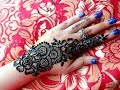 Download Latest simple strip bail Eid special henna mehndi designs for hands tutorial Video
