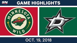 Download NHL Highlights | Wild vs. Stars - Oct. 19, 2018 Video