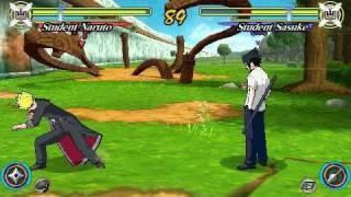 Download Naruto Ultimate Ninja Heroes 3 PSP Gameplay Free Mode Student Naruto Vs Student Sasuke Video