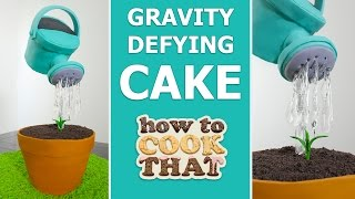 Download GRAVITY DEFYING WATERING CAN CAKE How To Cook That Ann Reardon #spon Video