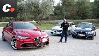 Download Alfa Romeo Giulia Quadrifoglio, BMW M3, Mercedes-AMG C 63 | Comparativa | Prueba / Review Coches Video
