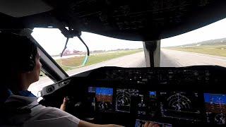 Download Boeing 787-8 - Departing Montego Bay - cockpit view Video