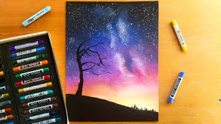 Download Drawing a night sky with soft pastels | Leontine van vliet Video