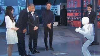 Download President Obama meets Japanese Robot Video
