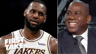 Download Magic laughs at the idea of the Lakers trading LeBron | First Take Video