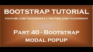 Download Bootstrap modal popup Video
