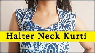 Download DIY Halter Neck Kurti Sewing (Step by Step) In Easy Way Video