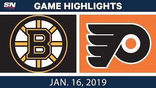 Download NHL Highlights | Bruins vs. Flyers - Jan. 16, 2019 Video
