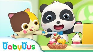 Download Baby Panda's Ice Cream Day | Baby Panda's Dessert Truck | Kids Pretend Play | BabyBus Video