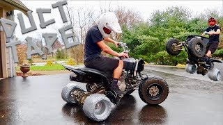 Download DRIFT QUAD DUCT TAPE TIRES!!! This Was Crazy.. Video