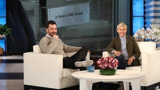 Download Ellen Surprises Jimmy Kimmel with a Dedication to His Son Video