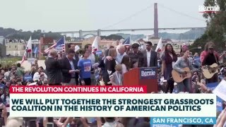 Download Bernie Rallies Supporters in San Francisco Video