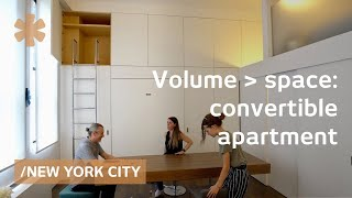 Download Convertible NY flat expands amid high ceilings & big windows Video